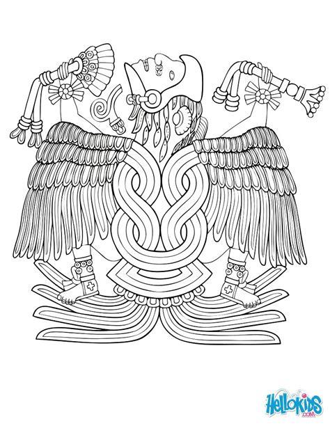quetzalcoatl coloring page huitzilopochtli coloring pages hellokids com