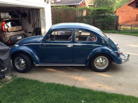 blue volkswagen beetle for sale 1960 vw beetle sedan indigo blue from birth for sale