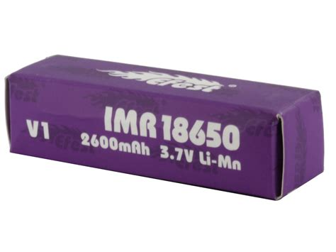 Efest Purple Imr 18650 Limn Battery 2600mah 37v 40a With Fla T1310 2 Efest Purple Imr 18650 High Drain Unprotected Li Ion Battery