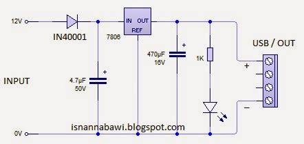 cara membuat powerbank dengan ic 7805 membuat charger hp dengan aki motor mudah isnan nabawi