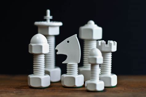 cool chess pieces tool chess set by the house of staunton design father