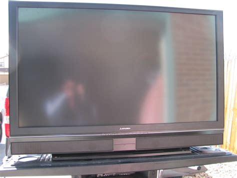 mitsubishi tv ls best buy 64 inch big screen mitsubishi tv in storage unit stuffed