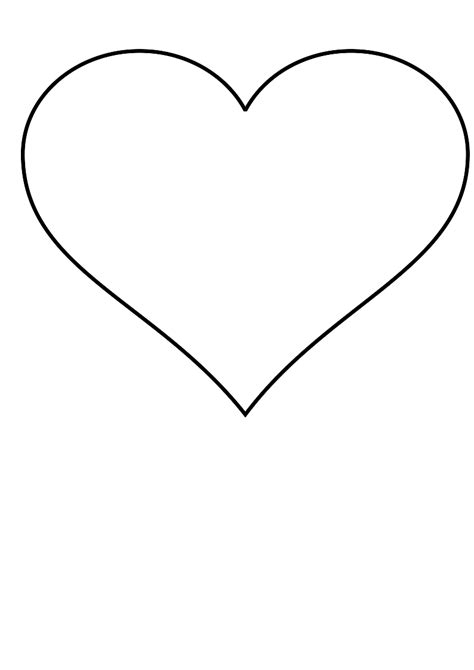 photo heart layout large heart template to print clipart best