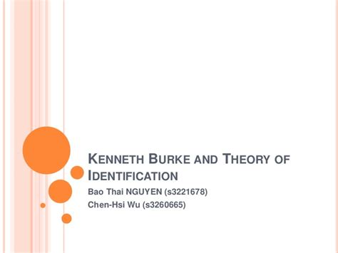 Theory Of Identification by Kenneth Burke And Theory Of Identification