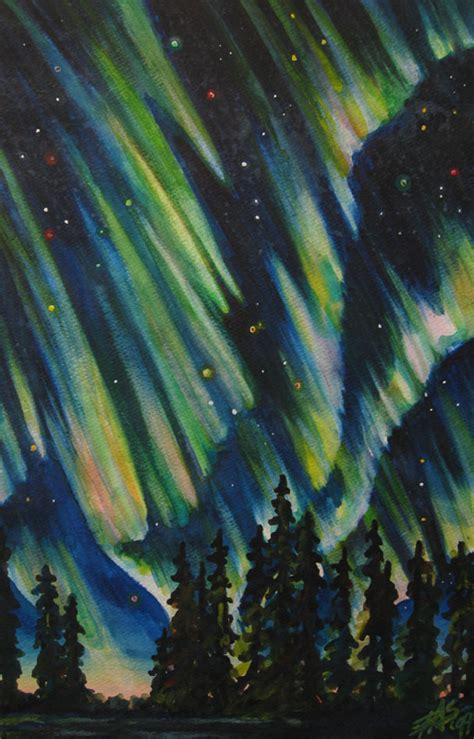 acrylic painting northern lights northern lights original acrylic painting on 12 quot x 12