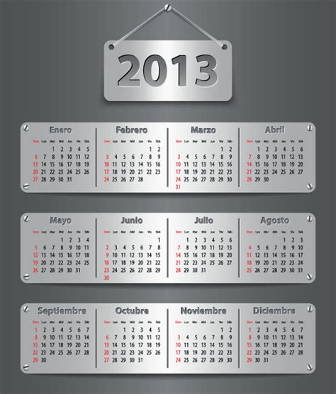 calendar design elements creative 2013 calendars design elements vector set 10