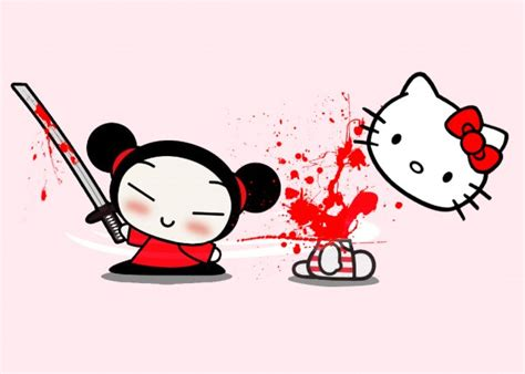 imagenes de hello kitty y pucca pucca goodbye kitty boomerang cards