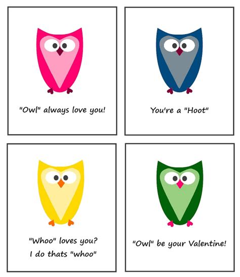 owl valentines day card template ready set create cuuute owl valentines