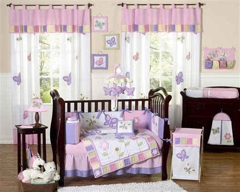 butterfly nursery bedding set pink purple butterfly baby bedding set 9pc