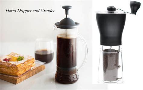 Kopi Giling Arabica 1 alat penggiling dan penyeduh kopi hario dripper dan
