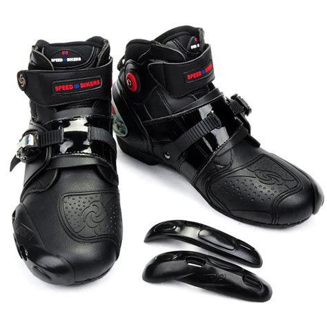Nhk Gp Pro Solid Black Fiber mens motorcycle boots motocross dirt bike racing boots