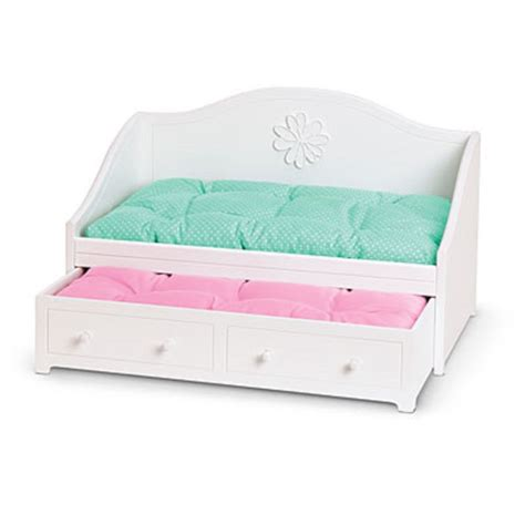 ag beds american girl my ag dreamy daybed for dolls white trundle