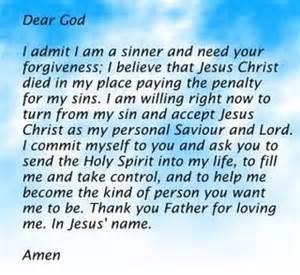 Salvation prayer picture