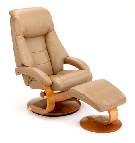 european recliner euro recliner and ottoman in sand leather model 58