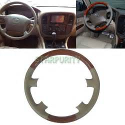 Steering Wheel For Land Cruiser Leather Wood Steering Wheel Cover 98 02 Toyota Land