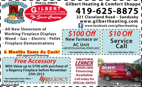 Gilbert Plumbing And Heating by Ohio Coupons Gilbert Heating And Comfort Shoppe