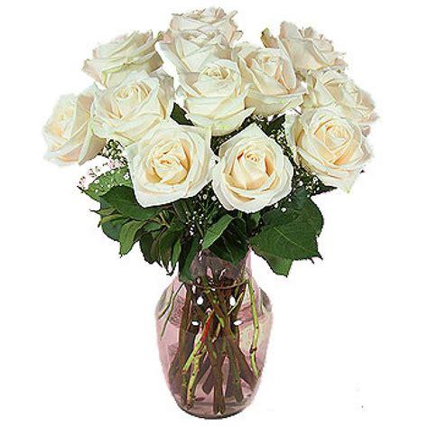 White Roses In Vase by 12 White Roses In A Vase