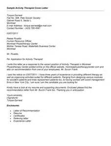 Exle Of The Cover Letter by Activity Therapist Resume Sales Therapist Lewesmr