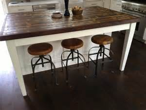 Wood Kitchen Island Table 15 Reclaimed Wood Kitchen Island Ideas Rilane