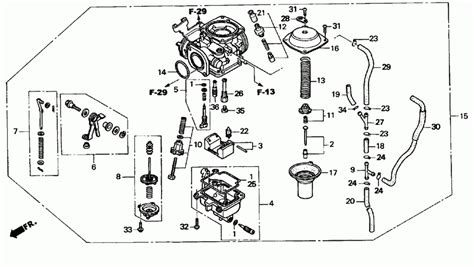 honda rebel 250 parts diagram 2003 honda rebel 250 cmx250c carburetor parts best oem