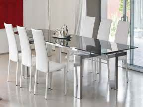 Modern Glass Dining Room Sets by Modern Glass Dining Room Tables Girls Wallpaper