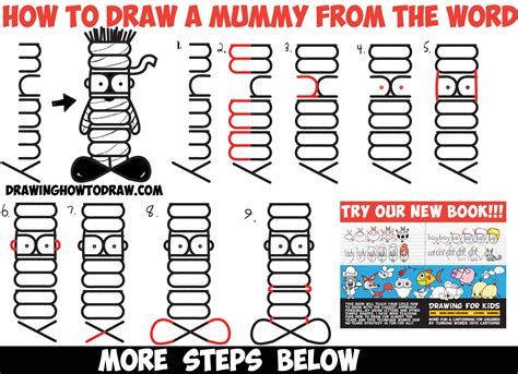 how to make a doodle name step by step easy mummy drawing www pixshark images galleries
