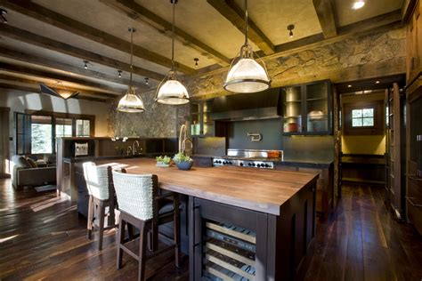 rustic kitchen design with modern mixed with vintage