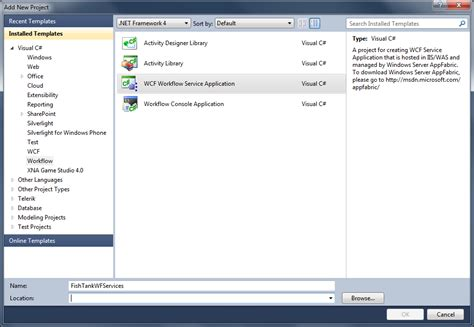 wcf workflow service application tutorial working with workflow services webapps