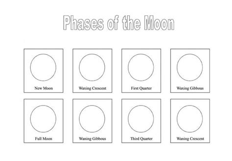 Label The Phases Of The Moon Worksheet