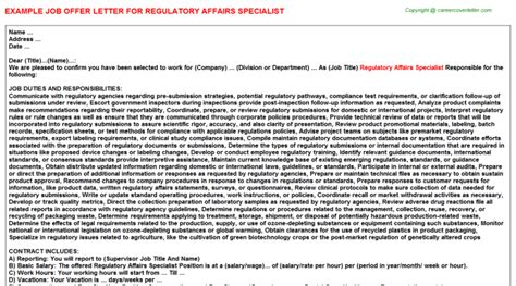 regulatory affairs resume sle regulatory affairs cover letter 52 images chief cover