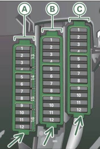 audi    fuse box diagram auto genius