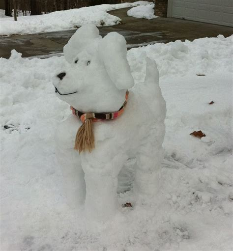 creation dog snow dog my snow creation snowman ideas pinterest