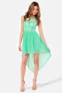 mint color dress lovely lace dress mint green dress high low dress 48 00