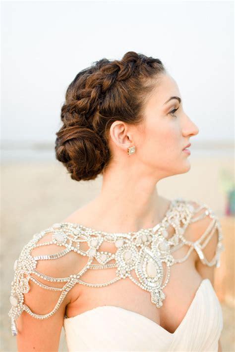 a sparkling wedding style trend bridal shoulder