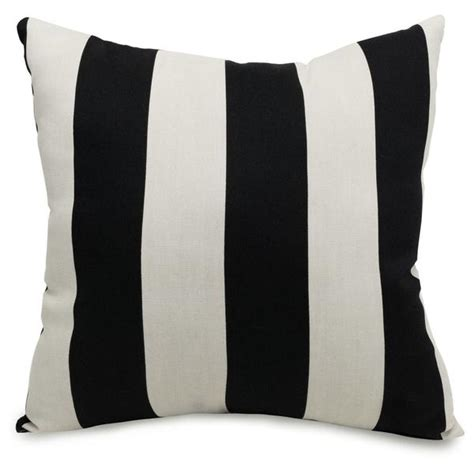 black and white striped pillow buy majestic home 85907220823 black vertical stripe large