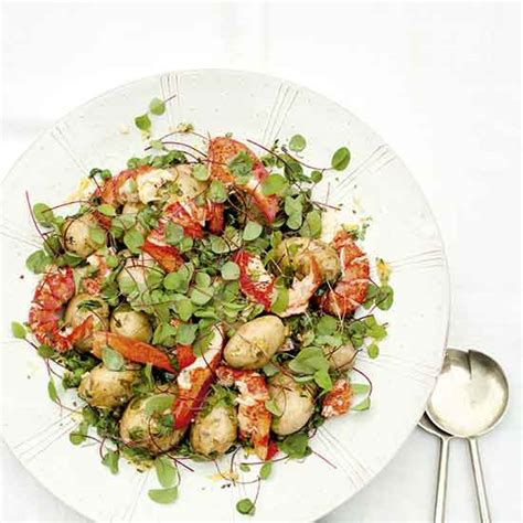 country homes and interiors recipes lobster potato pea and sorrel salad recipe ideal