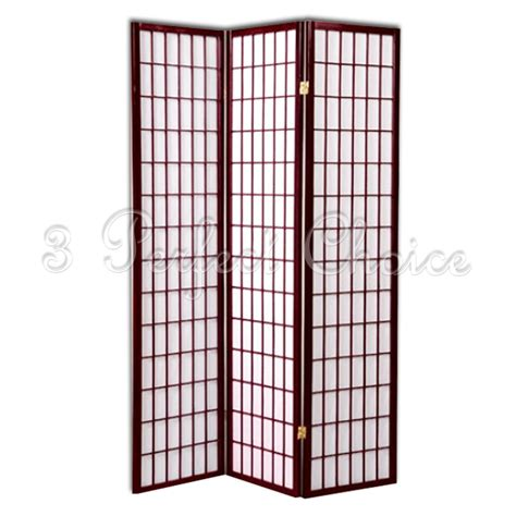 new 3 wood panel traditional bedroom screen folding room new 3 folding panels wood shoji room divider screen
