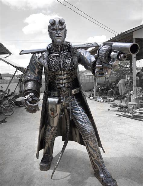 disfras de el depredador reciclado las espectaculares esculturas de metal reciclado de