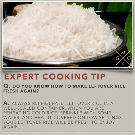 kitchen tips do you know how to make leftover rice fresh again cooking