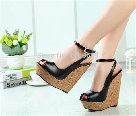 high heeled wedges wedges sandales