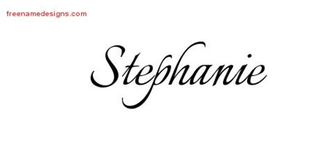 stephanie name tattoo design calligraphic name designs free