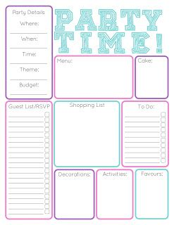 printable birthday organizer claire crew birthday party planning and a free