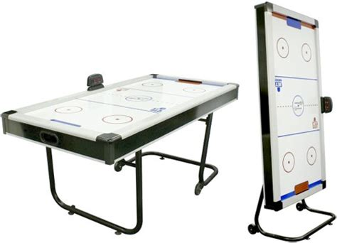 Folding Air Hockey Table Fancy Space Saving Air Hockey Table Folds Away After Play S Technology News