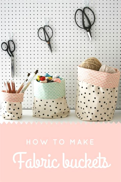 printable fabric tutorial fabric buckets tutorial apartment apothecary