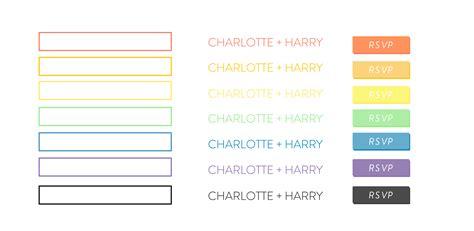New Wedding Website theme: Charlotte & Harry