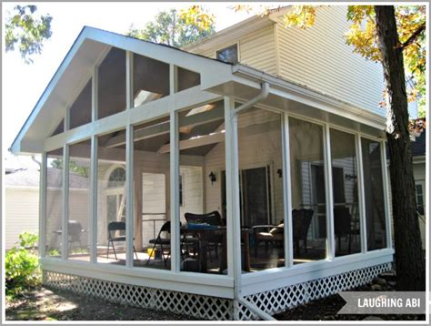 painting a screened porch exterior