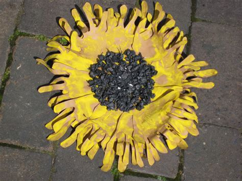 sunflower crafts for handprint sunflowers nurturestore