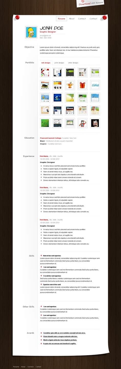 psd resume templates 25 best free resume cv templates psd