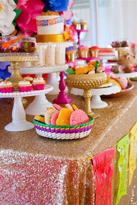 decorations for a mexican themed colorful mexican themed baby shower with lots of really