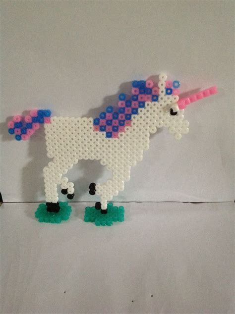 perler unicorn perler bead unicorn by julie rodriguez perline hama